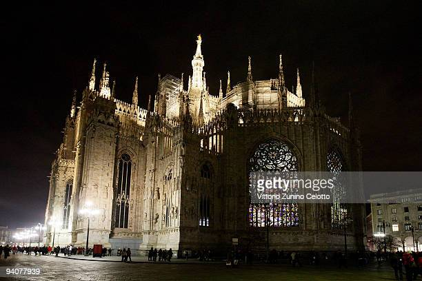 A general view of the apse of the Duomo during the Milan Christmas Led Festival on December 6 2009 in Milan Italy