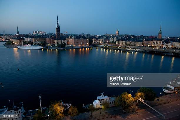 General view of the Archipelago and the Baltic sea the old city of Gamla Stan the city center and the islands during an 'Around Stockholm Feature' on...