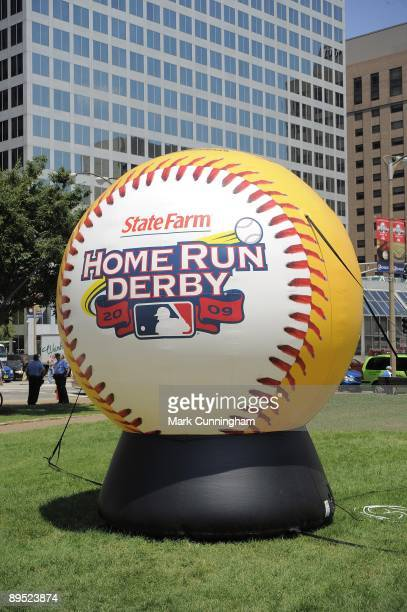 General view of the area around Busch Stadium decorated before the 2009 State Farm Home Run Derby at Busch Stadium on July 13 2009 in St Louis...