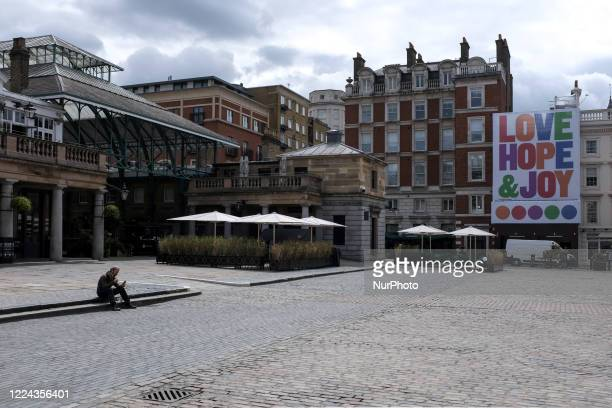 General view of the area of Covent Garden as the lockdown measures, due to the coronavirus outbreak, are progressively eased in London on July 1,...