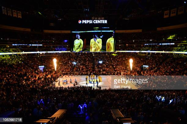 A general view of the area prior to the game between the Phoenix Suns and Denver Nuggets on October 20 2018 at the Pepsi Center in Denver Colorado...