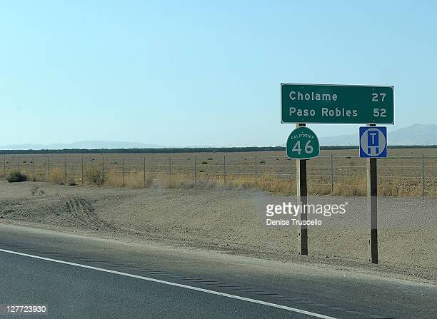 A general view of the area where actor James Dean died 56 years ago on September 30 2011 in Cholame California