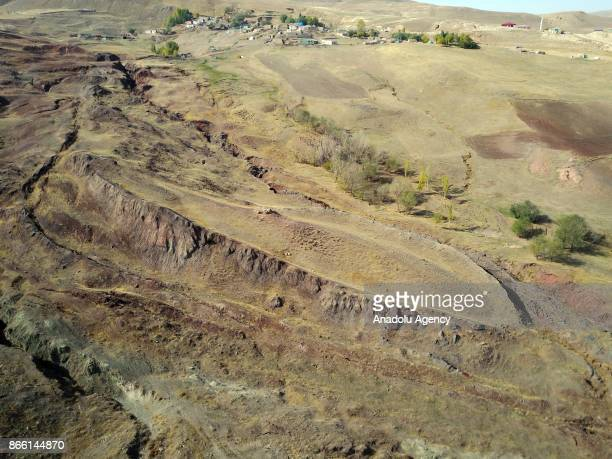 A general view of the area which has allegedly trace of Noahs Ark on Mount Ararat also known as Agri Mountain in Agri Turkey on October 25 2017 Agri...
