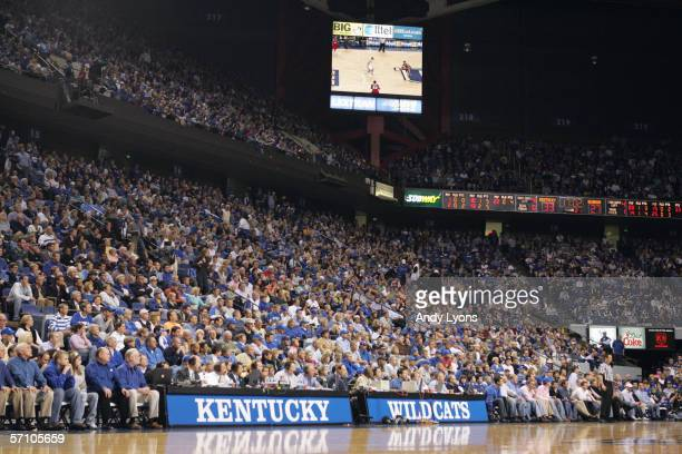 General view of the arean taken during the game between the Kentucky Wildcats and the Georgia Bulldogs on February 15,2006 at Rupp Arena in...
