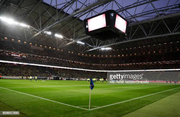 General view of the arena ahead of the FIFA 2018 World Cup Qualifier between Sweden and Luxembourg at Friends Arena on October 7 2017 in Solna Sweden