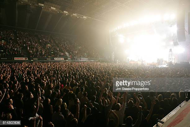 A general view of the Arena and stage during the Kaiser Chiefs concert at the Wembley Arena in London United Kingdom 6th March 2009