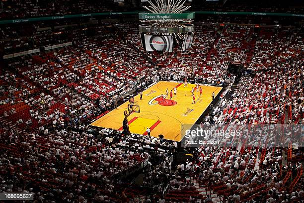 A general view of the arena as the Chicago Bulls play the Miami Heat in Game Two of the Eastern Conference Semifinals during the 2013 NBA Playoffs on...