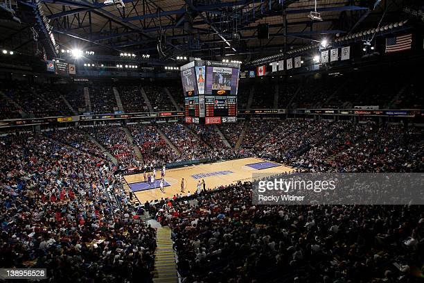 A general view of the arena as the Phoenix Suns face off against the Sacramento Kings at Power Balance Pavilion on February 11 2012 in Sacramento CA...