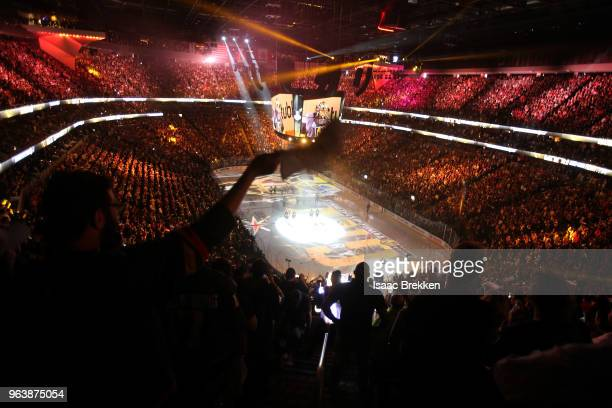 A general view of the arena as the Vegas Golden Knights take to the ice prior to Game Two of the 2018 NHL Stanley Cup Final against the Washington...