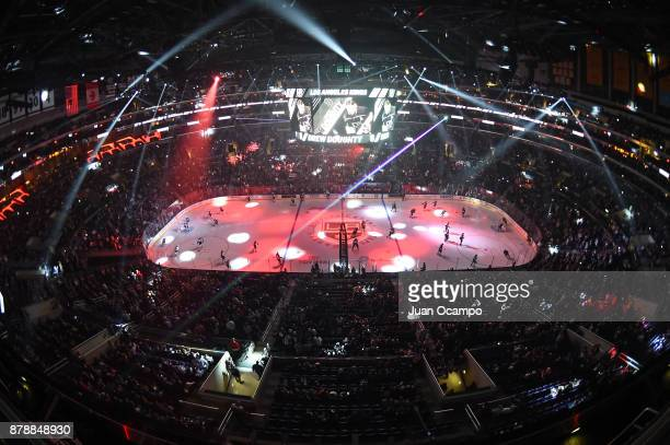 A general view of the arena before a game between the Winnipeg Jets and the Los Angeles Kings at STAPLES Center on November 22 2017 in Los Angeles...
