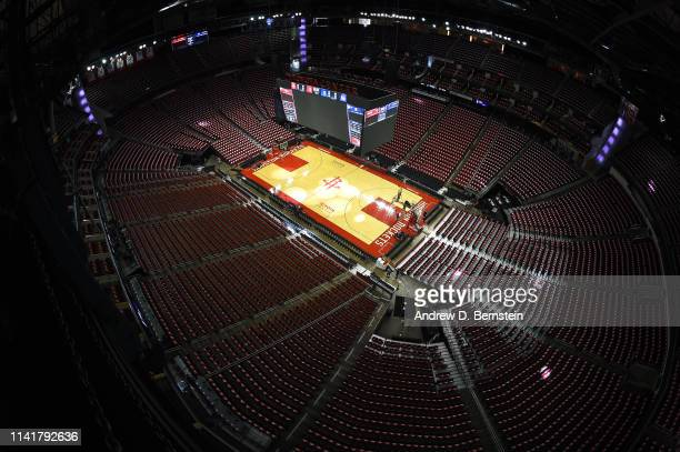 A general view of the arena before Game Four of the Western Conference Semifinals between the Golden State Warriors and the Houston Rockets during...