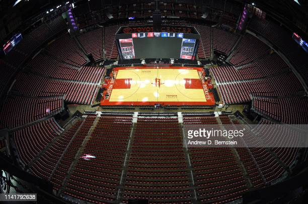 General view of the arena before Game Four of the Western Conference Semifinals between the Golden State Warriors and the Houston Rockets during the...