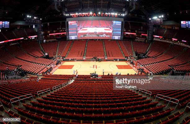 A general view of the arena before Game Seven of the Western Conference Finals between the Golden State Warriors and the Houston Rockets during the...