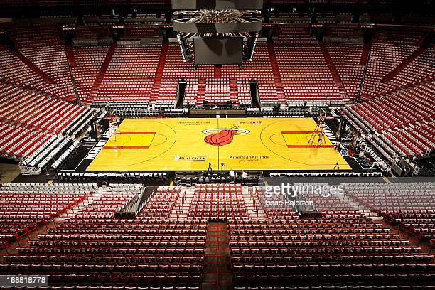 A general view of the arena before the Chicago Bulls played the Miami Heat in Game Five of the Eastern Conference Semifinals during the 2013 NBA...