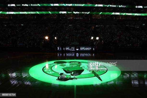 A general view of the arena before the Eastern Conference Quarterfinals game between the Boston Celtics and the Chicago Bulls during the 2017 NBA...