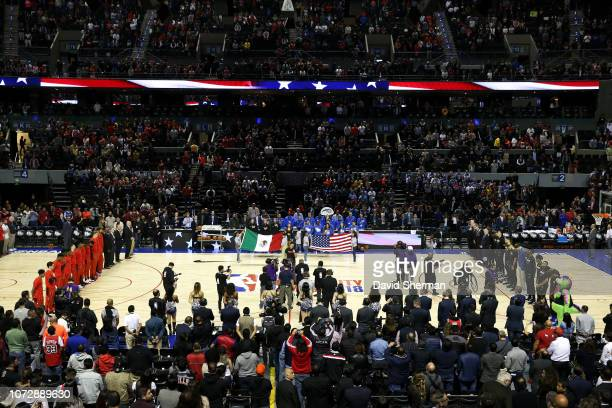 A general view of the arena before the game between Chicago Bulls and Orlando Magic as part of the NBA Mexico Games 2018 on December 13 2018 at Arena...