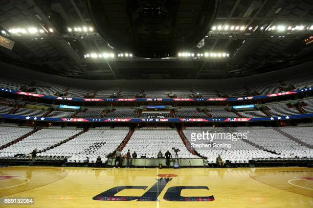 A general view of the arena before the game between the Atlanta Hawks and the Washington Wizards during the Eastern Conference Quarterfinals of the...