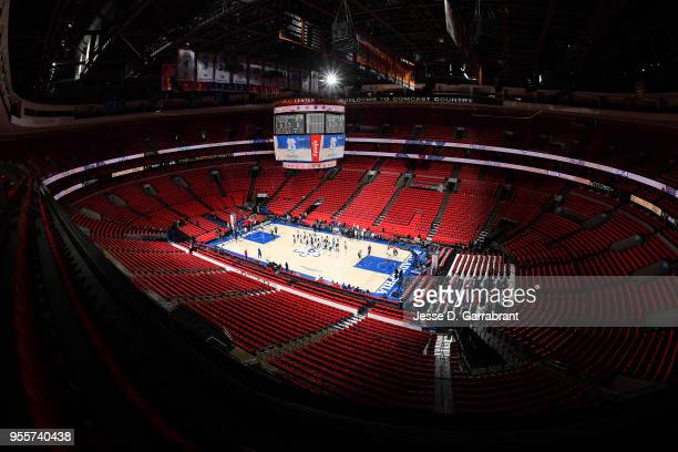 A general view of the arena before the game between the Boston Celtics and the Philadelphia 76ers during Game Four of the Eastern Conference...