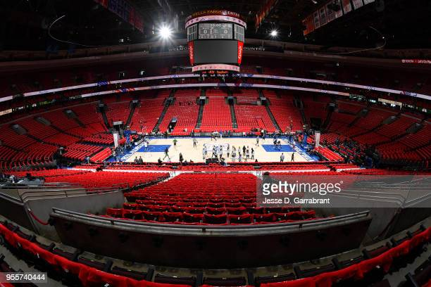 General view of the arena before the game between the Boston Celtics and the Philadelphia 76ers during Game Four of the Eastern Conference Semifinals...