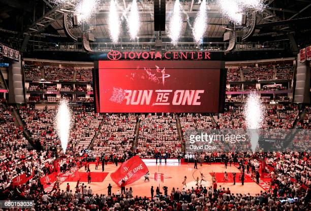 General view of the arena before the game between the Houston Rockets and the San Antonio Spurs during Game Four of the Western Conference Semifinals...