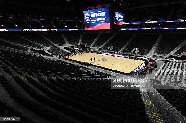 A general view of the arena before the game between the USA Basketball Men's National Team and Argentina on July 22 2016 at TMobile Arena in Las...