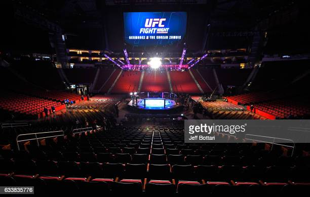 General view of the arena before the UFC Fight Night event at the Toyota Center on February 4, 2017 in Houston, Texas.
