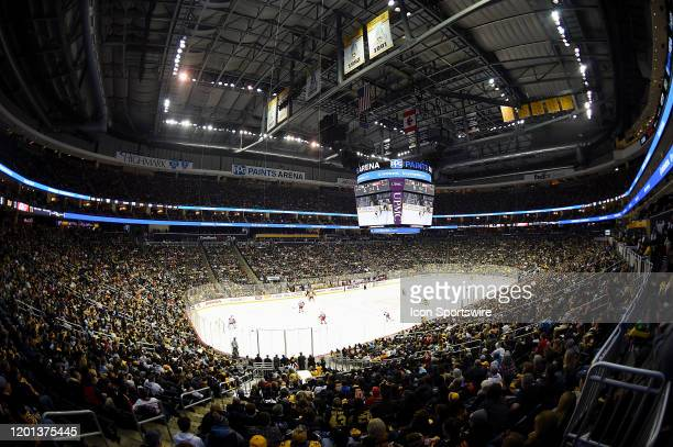General view of the arena bowl during the game between the Pittsburgh Penguins and the Detroit Red Wings at PPG Paints Arena on February 16, 2020 in...