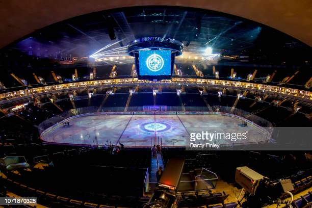 A general view of the arena bowl prior to NHL action between the Winnipeg Jets and the Chicago Blackhawks at the Bell MTS Place on December 11 2018...