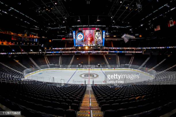 A general view of the arena bowl prior to NHL action between the Winnipeg Jets and the Vegas Golden Knights at TMobile Arena on February 22 2019 in...