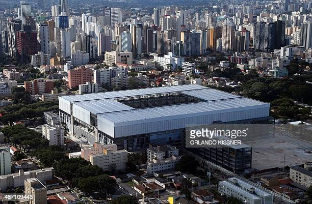 General view of the Arena da Baixada stadium in the southern city of Curitiba Brazil on April 27 2014 The Arena da Baixada stadium will host four...