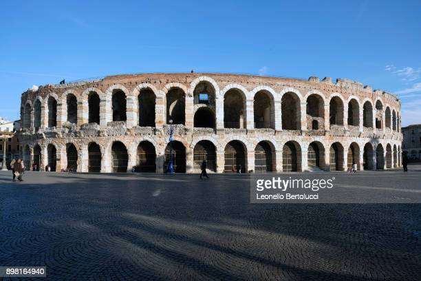 A general view of the Arena di Verona illuminated at night on November 20 2017 in Verona Italy The story of the Juliet Letters started in the 1930's...