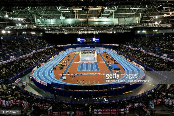A general view of the arena during Day One of the SPAR British Athletics Indoor Championships at Arena Birmingham on February 09 2019 in Birmingham...