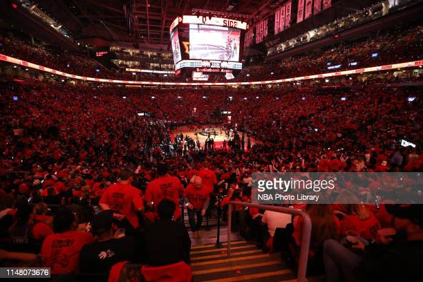 A general view of the arena during Game Two of the 2019 NBA Finals on June 2 2019 at Scotiabank Arena in Toronto Ontario Canada NOTE TO USER User...
