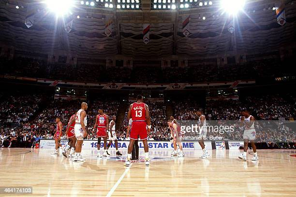 General view of the arena during the 1991 All Star Game on February 10 1991 at the Charlotte Coliseum in Charlotte North Carolina NOTE TO USER User...