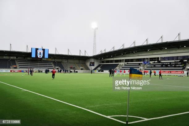 General view of the arena during the Allsvenskan match between IK Sirius FK and Kalmar FF at Gavlevallen on April 24, 2017 in Gavle, Sweden.