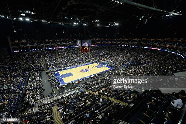 A general view of the arena during the game as part of 2017 NBA London Global Games at the O2 Arena on January 12 2017 in London England NOTE TO USER...