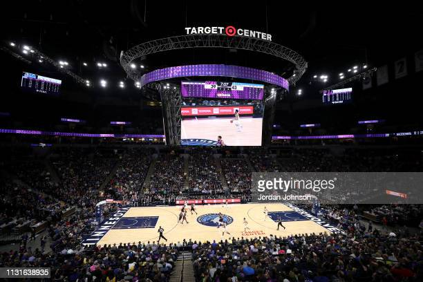 General view of the arena during the game between the Golden State Warriors and the Minnesota Timberwolves on March 19, 2019 at Target Center in...