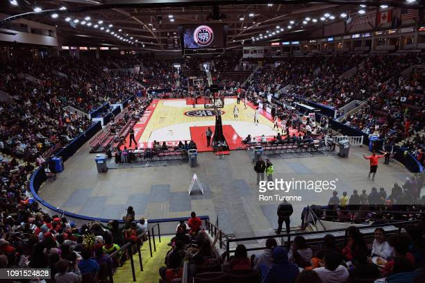 General view of the arena during the game between the Raptors 905 and the Capital City Go-Gos at the Paramount Fine Foods Centre on January 30, 2019...