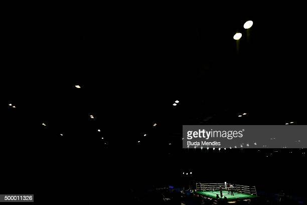 General view of the arena during the International Boxing Tournament Aquece Rio Test Event for the Rio 2016 Olympics at RioCentro on December 4 2015...