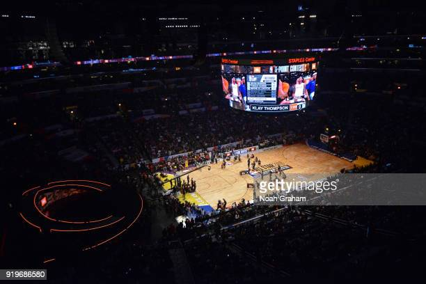 A general view of the arena during the JBL ThreePoint Contest during State Farm AllStar Saturday Night as part of the 2018 NBA AllStar Weekend on...