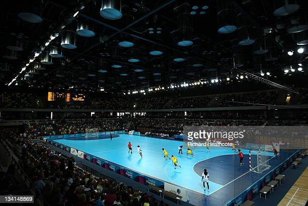 A general view of the arena during the London Handball Cup Finals at the Handball Arena inside the Olympic Park on November 27 2011 in London England