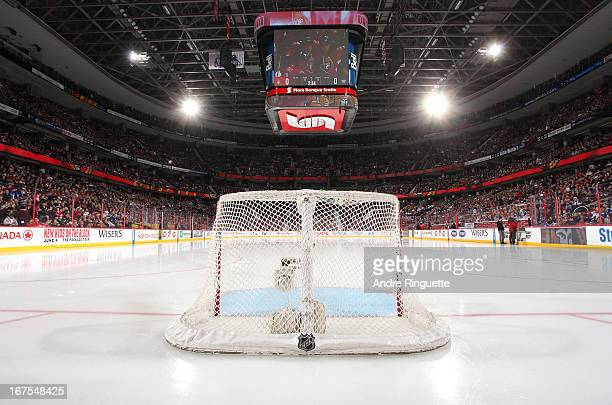 A general view of the arena from behind the net prior to a game between the Ottawa Senators skates and the Toronto Maple Leafs on April 20 2013 at...