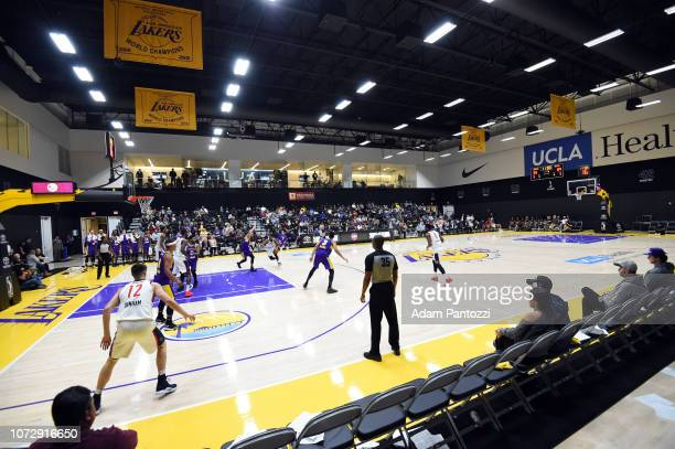 A general view of the arena is seen during a game between the Capital City GoGo and the South Bay Lakers on December 13 2018 at UCLA Heath Training...