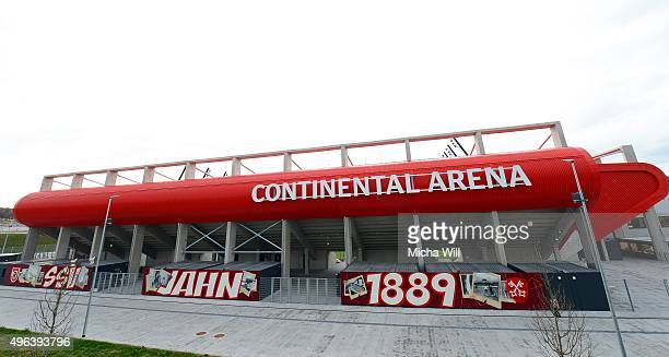 A general view of the Arena is seen prior to the friendly match between FC Bayern Muenchen and Paulaner Traumelf at Continental Arena on November 9...