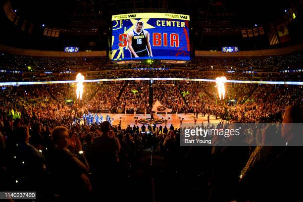 A general view of the arena prior to a game between the Portland Trail Blazers and the Denver Nuggets during Game One of the Western Conference...