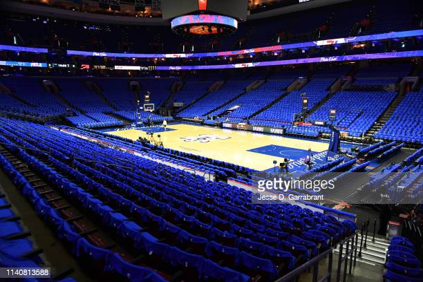 General view of the arena prior to a game between the Toronto Raptors and the Philadelphia 76ers before Game Three of the Eastern Conference...