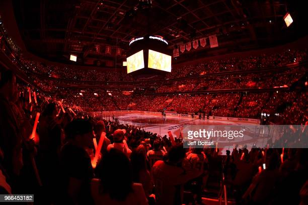 A general view of the arena prior to Game Three of the Stanley Cup Final between the Washington Capitals and Vegas Golden Knights during the 2018 NHL...