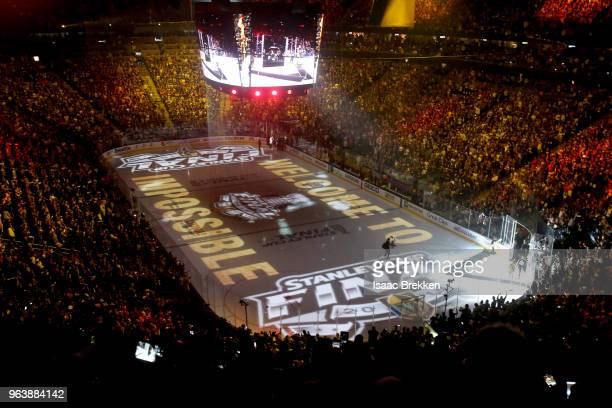 A general view of the arena prior to Game Two of the 2018 NHL Stanley Cup Finals between the Vegas Golden Knights and the Washington Capitals at...