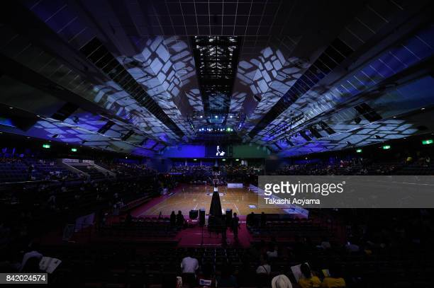 A general view of the arena prior to the BLeague Kanto Early Cup 3rd place match between Kawasaki Brave Thunders and Tochigi Brex at Funabashi Arena...