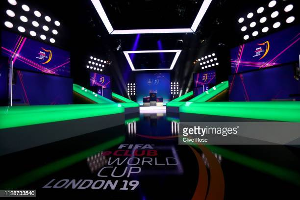 A general view of the arena prior to the Final of the FIFA eClub World Cup 2019 Knockout Stage Final on February 10 2019 in London England